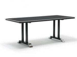 Gispen 7207 tafel zwart Linoleum Desk-top zwart