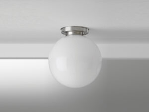 Gispen plafonniere simpel ball 40cm glas