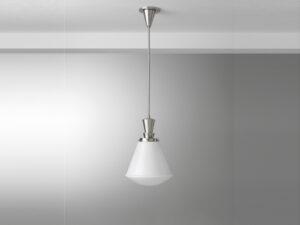 Gispen hanglamp stang basket glas